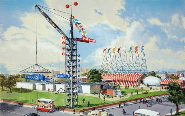 'Live Architecture' exhibition site, 1951, Image courtesy The National Archives