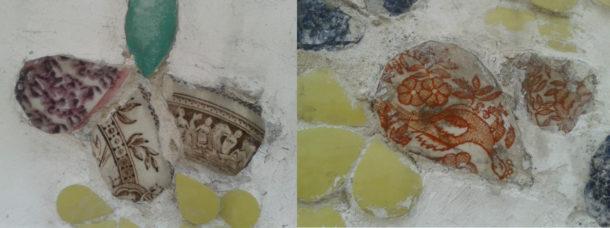 Fig. 9 Ceramic fragments with figural motifs, Wat Arun, Bangkok © Sau Fong Chan