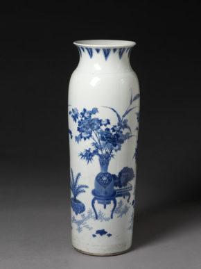 Vase (rolwagen), porcelain, JIngdezhen, China, 1630-50,