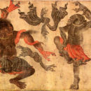 Image of demons dancing