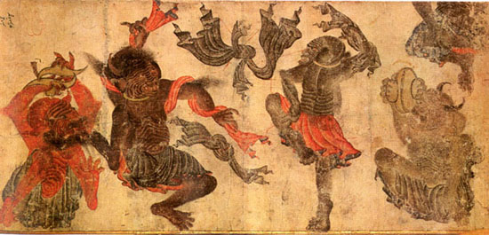 Image of demons dancing