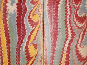 Combed pattern in a book from Paris, 1730.