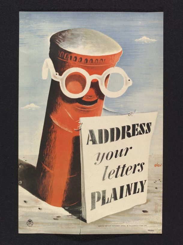 'Address your letters plainly', poster, Hans Schleger, 1942