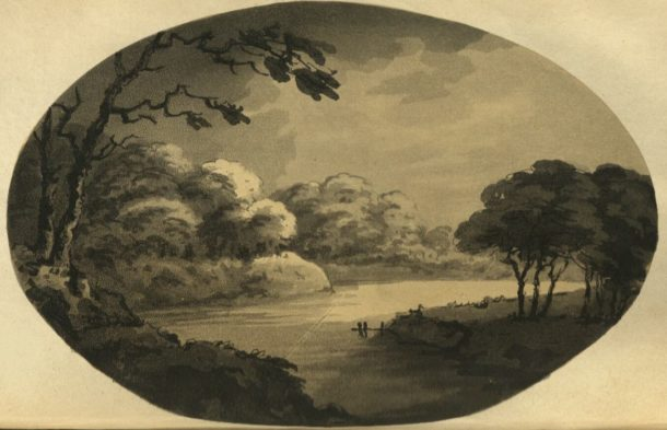 Samuel Alken after William Gilpin. Aquatint plate from: Gilpin, William. 'Remarks on forest scenery, and other woodland views, (relative chiefly to picturesque beauty)' (London: printed for R. Blamire, 1791). NAL: 38041800769044