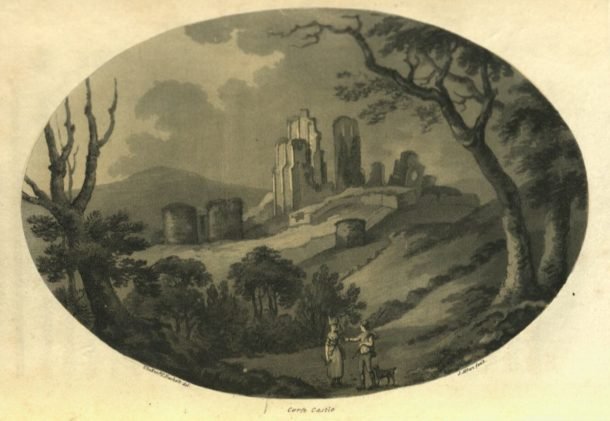 Samuel Alken after Thomas Rackett. Aquatint plate from: Maton, William George. 'Observations relative chiefly to the natural history, picturesque scenery, and antiquities, of the western counties of England, made in the years 1794 and 1796' (Salisbury: printed and sold by J. Easton, 1797). NAL: 38041800967408