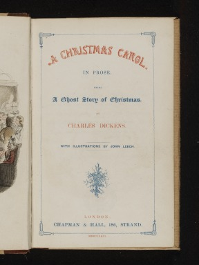 Frontispiece from A Christmas Carol : In Prose, Being a Ghost Story of Christmas; by Charles Dickens (1812 - 70), with illustrations by John Leech (1817 - 64); published by Chapman & Hall; English (London); 1843.