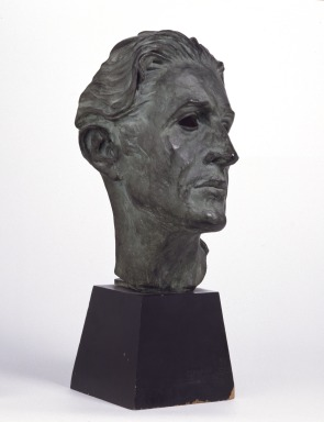 Bust of Ivor Novello as Lord George Hell in The Happy Hypocrite by Clemence Dane and Richard Addinsell, 1936 (V&A S.133-1977)