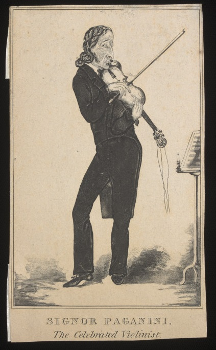Signor Paganini. The celebrated violinist