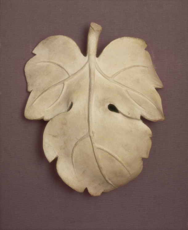 REPRO.1857A-161 Plaster cast of Fig Leaf for David after the marble original by Michelangelo (1475-1564) in the Accademia di Belle Arti. Florence, c.1857.