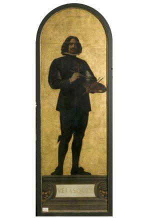 Velasquez: design for a mosaic in the Museum (the 'Kensington Valhalla'), ca. 1871, Edwin Long, 27-1873