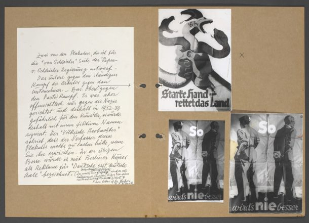 Commentary by Fritz Rosen and reproductions of political posters