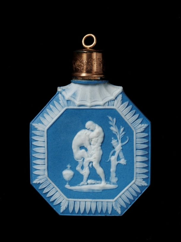 Jasperware scent bottle