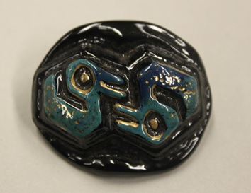 Orplid Glassworks, Glass button, ca. 1940-1945, C.334-2017.