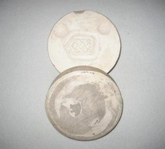 Lucie Rie, Plaster button mould, ca.1940-47, C.116:1 & 2 – 2009.