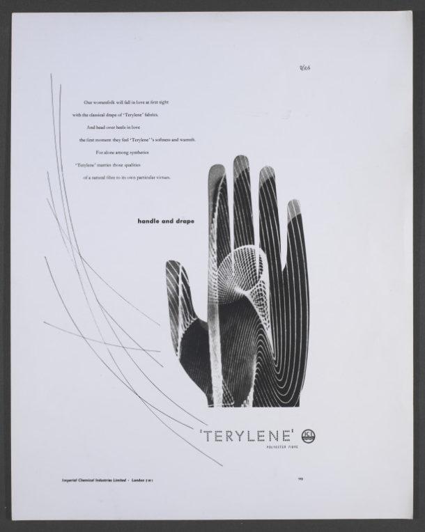 "Terylene ""Handle and drape"" advertisement, Hans Schleger"