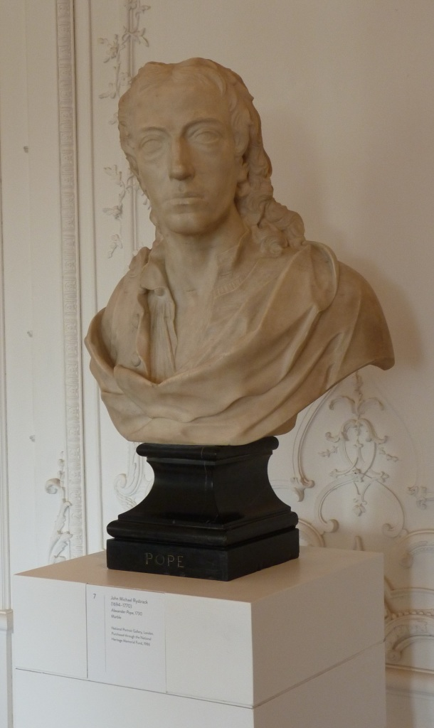 Bust of Alexander Pope by John Michael Rysbrack, using the same pose developed by Roubiliac and Pope.