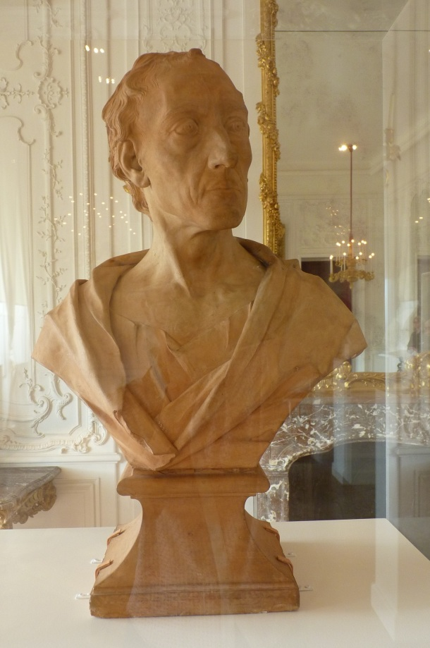 Terracotta bust of Alexander Pope on display at Waddesdon Manor. Photograph by Katherine Elliott, 2014