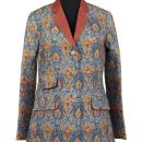 'Ajrakh' Jacket designed by Rajesh Pratap Singh. Linen, 2010. Museum no. IS.27-2012. ©Victoria and Albert Museum, London