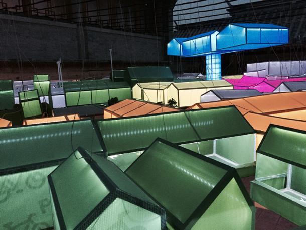 Floating courtyards by MVRDV