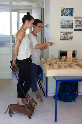 Local resident, Cecily Mullins, with architect of More West, Joanne Sutherland. © Constantine Gras