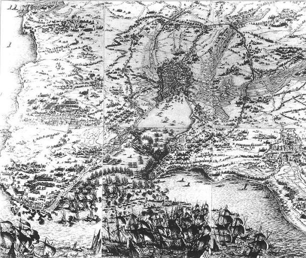Le Grand Siege de La Rochelle, Jacques Callot, 1630. Musee d'Orbigny-Bernon