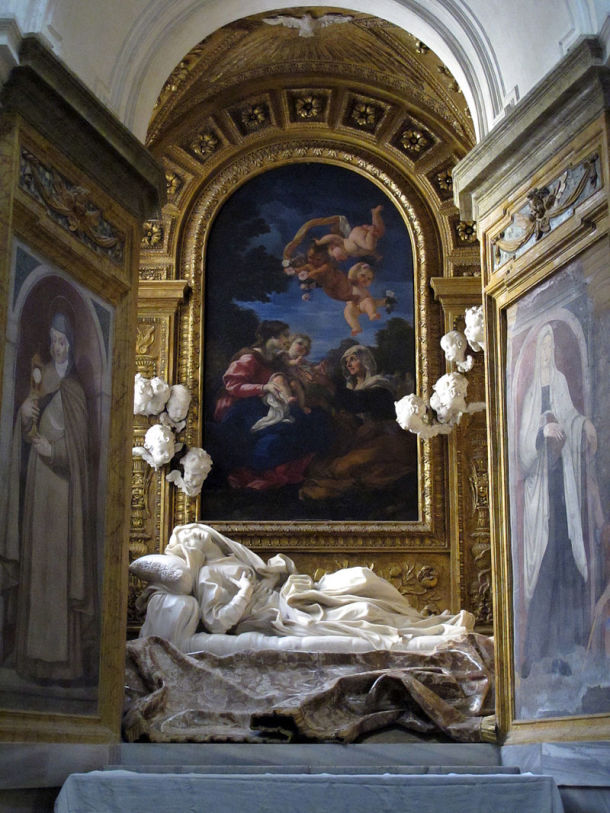 Blessed Ludovica Albertoni by Gianlorenzo Bernini, Altieri Chapel, San Francesco a Ripa, Rome.