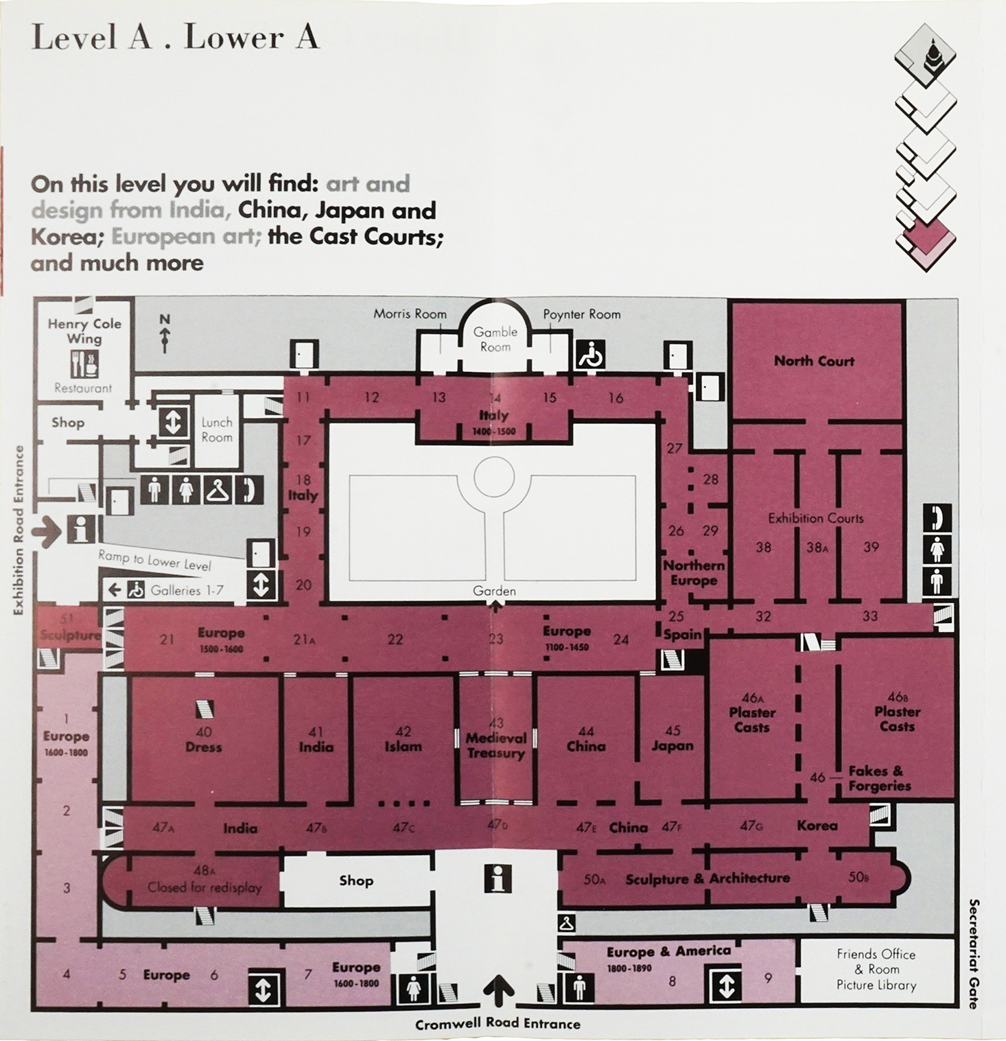 best laid plans mapping the v a by andrew mcilwraith victoria this plan was part of a guide to the museum produced by the design group pentagram in the 1990s and uses few colours again to show different floor levels