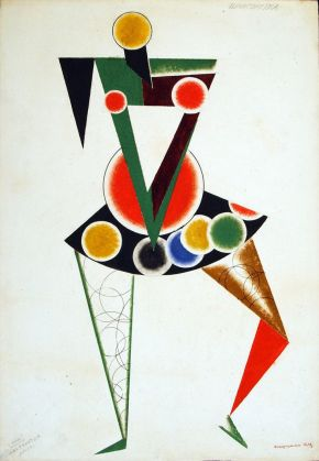 Alexander Rodchenko: Costume design fro the Chansonette for We (unrealised), 1919. Bakhrushin Statew Central Theatre Museum, Moscow.