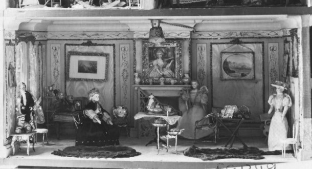 Amy Miles's House, 1890s. Shown back in black and white days. W.146-1921 (c) V&A Museum, London