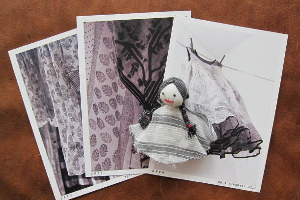 Postcards and Doll, 2011, ©Divia Patel
