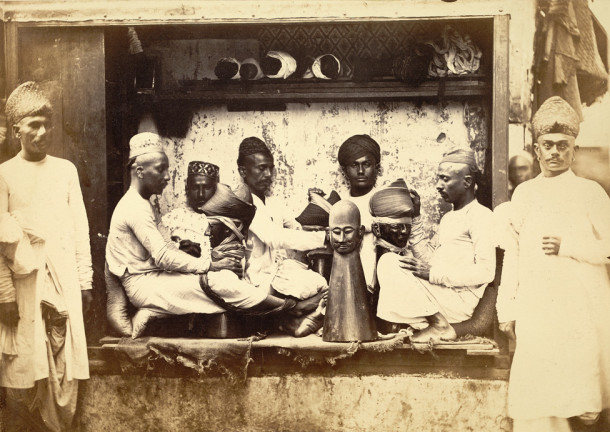 Bhattia turban folders at work (ASI 1873)