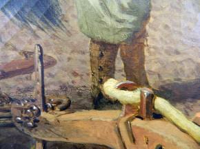 Detail of Herring's wash-like brushwork.