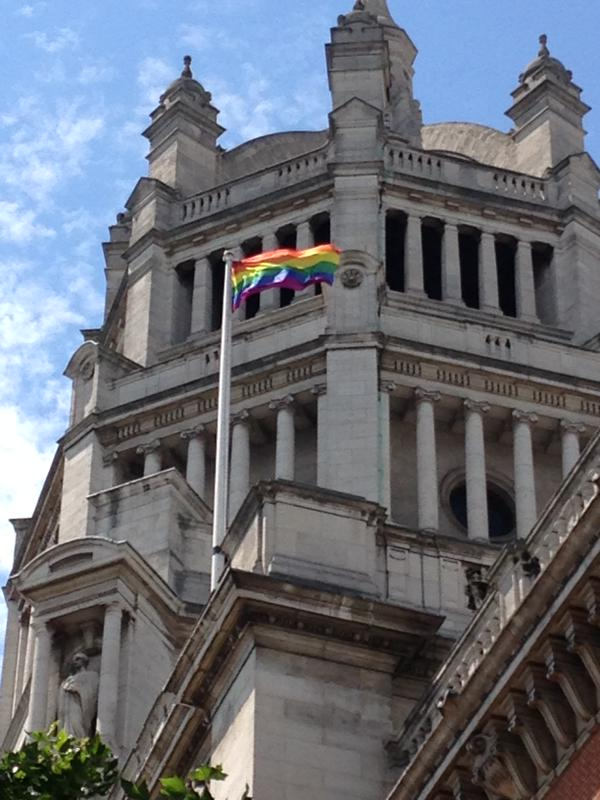 The sun is shining and the V&A's rainbow flag is up and flying for the weekend ahead!