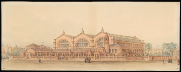 Design for the Bethnal Green Museum, watercolour on paper, ca.1868. Museum no. D.738-1905 © Victoria and Albert Museum, London