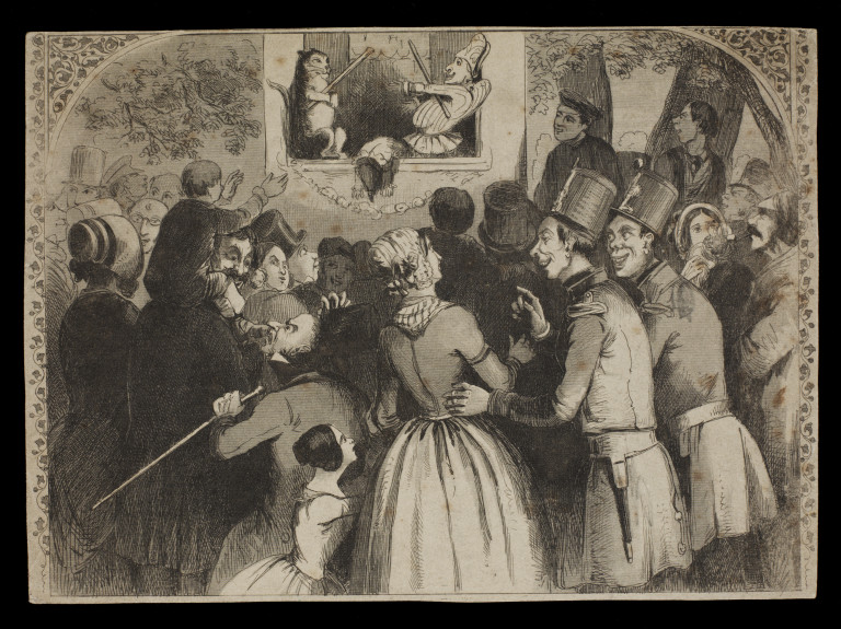 Punch and Judy show, possibly by George Cruikshank, 19th century. Museum no. S.675-2010. © Victoria and Albert Museum, London