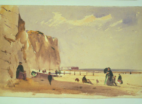 'Coast Scene, Normandy,' John Absolon, c. 1860. © Victoria and Albert Museum, London.