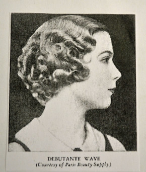 The Debutante Wave, a short perm fashionable in the 1930s. http://relivingalegacy.blogspot.co.uk/2011/04/blast-from-past-1930s.html