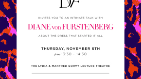 Invitation to our interview with DvF © V&A Collection