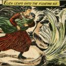 Eliza leaps onto the frozen ice!