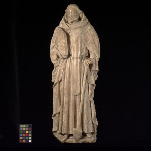 A.135-1946, alabaster statue of St. Fiacre, England, 15th century © Victoria and Albert Museum, London