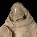 Detail of A.135-1946, alabaster statue of St. Fiacre © Victoria and Albert Museum, London
