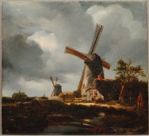 Constable after Jacob van Ruisdael's Landscape with Windmills near Haarlem by permission of The Trustees of Dulwich Picture Gallery, London