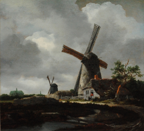 Jacob van Ruisdael's (c.1629-1682)  Landscape with Windmills near Haarlem by permission of The Trustees of Dulwich Picture Gallery, London