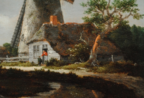 Detail from Jacob van Ruisdael's (c.1629-1682) Landscape with Windmills near Haarlem by permission of The Trustees of Dulwich Picture Gallery, London
