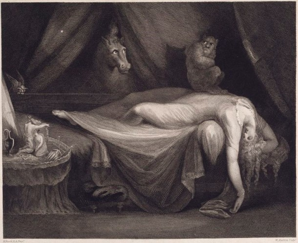 'The Nightmare', William Raddon after Henry Fuseli, 1827. Museum no. E.1194-1886.