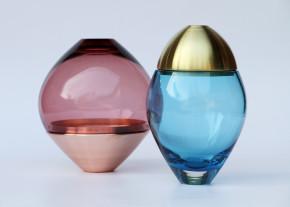 Glass Jars Blue & Rose