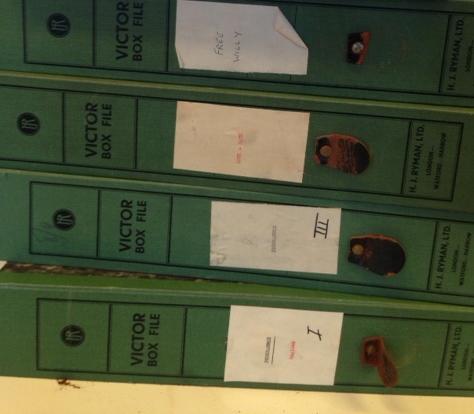 Peter Brook original file boxes
