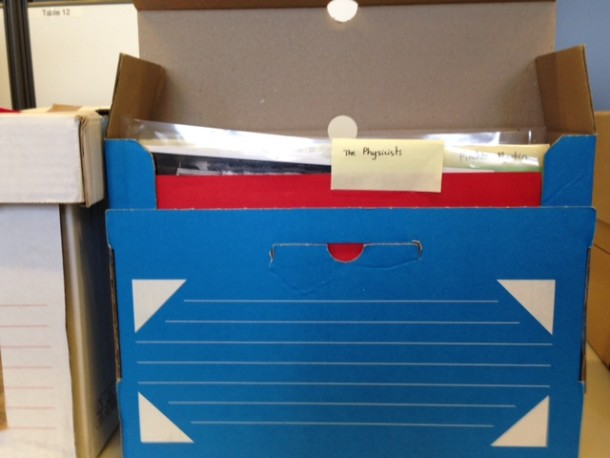 Peter Brook  file boxes