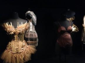 set of rotating mannequins displaying corsets. © Katherine Elliott, 2014