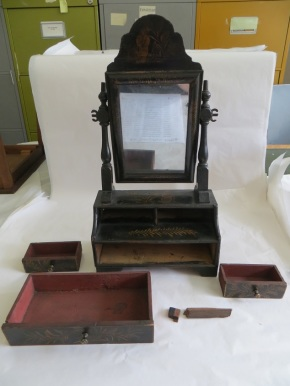 Dressing mirror, part of W.42-1922. (C) Victoria & Albert Museum, London